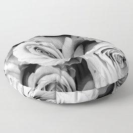 Black and White Roses Floor Pillow