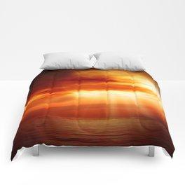 sunrise in the sea Comforters
