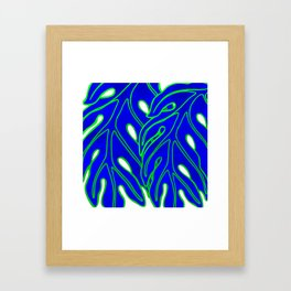 Blue Lau Ulu Framed Art Print