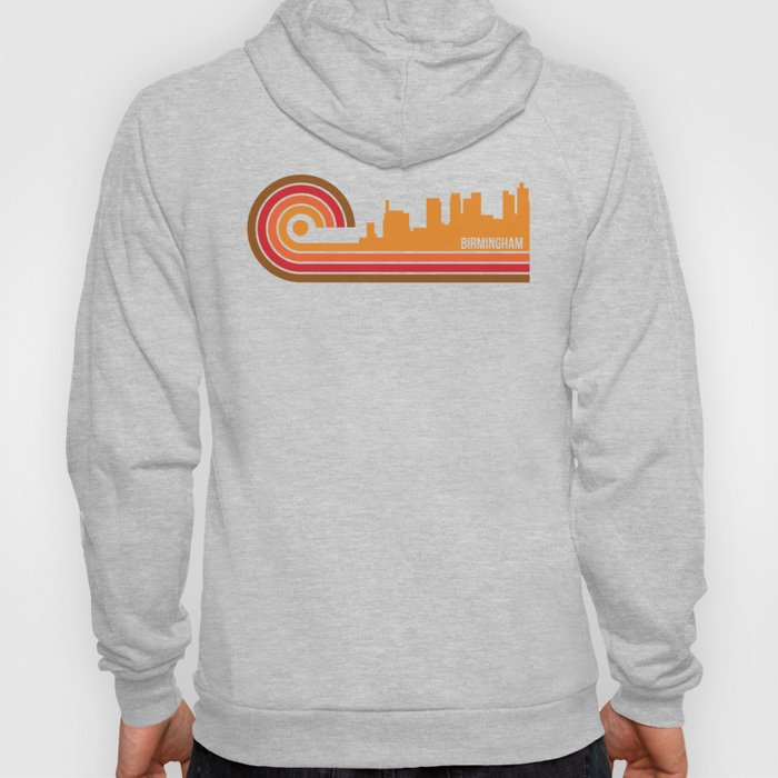 Retro Style Birmingham Alabama Skyline Hoody