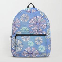 sea urchin blue watercolor Backpack