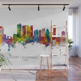 Fort Lauderdale Florida Skyline Wall Mural