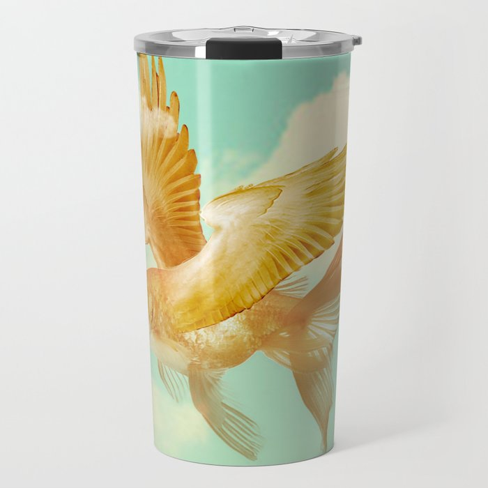 Flying Goldfish Travel Mug