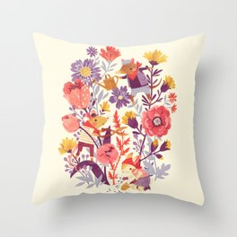 The Garden Crew Throw Pillow