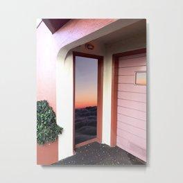 Sunset Doorway Metal Print