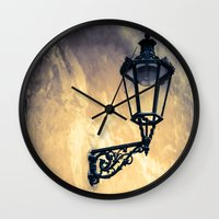 lantern Wall Clocks featuring Lantern by Maria Heyens