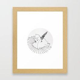 unicorn pig Framed Art Print
