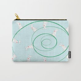 The Funny Bunnies in Baby Blue Carry-All Pouch