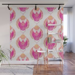 Egyptian Scarab – Pink Ombré Wall Mural