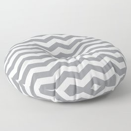 Grey Chevron Pattern Floor Pillow
