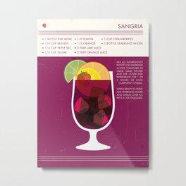 Sangria Art Print Metal Print