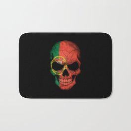 Dark Skull with Flag of Portugal Bath Mat