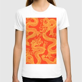 Red and Gold Battling Dragons T-shirt