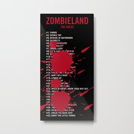 Zombieland Rules Metal Print