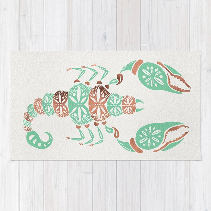 Scorpion – Mint & Rose Gold Rug