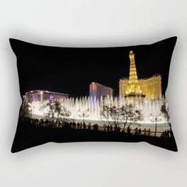 Bellagio Fountain Rectangular Pillow