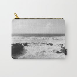 Vintage film style Black and white coast. Carry-All Pouch