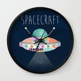 Spacecraft Wall Clock