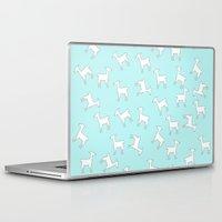 lama Laptop & iPad Skins featuring Lama Lama Lama by Monika Strigel