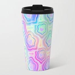 'I Love You Umlaut' Valentine's Pattern - Morning Iridescence Travel Mug