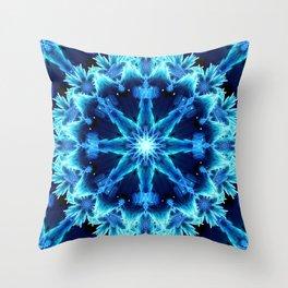 Crystal Light Mandala Throw Pillow