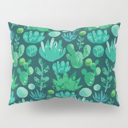 Watercolor succulents and cactus Pillow Sham