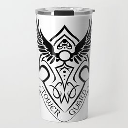 Tower Guard Shield (Black) Travel Mug