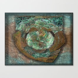Tarnished Copper Plaque Canvas Print