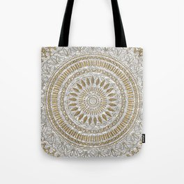 Elegant hand drawn tribal mandala design Tote Bag