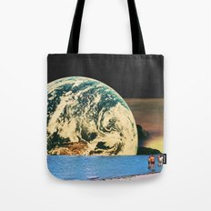 Distant beach Tote Bag
