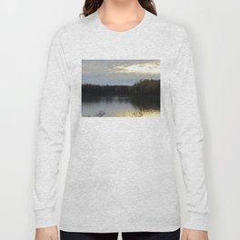 Downeast Autumn Reflections of Scattered Illuminations Long Sleeve T-shirt