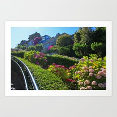 Lombard Street views  Art Print