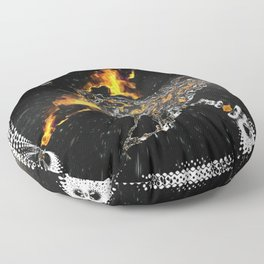 Silver Space craft Floor Pillow