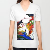 joy V-neck T-shirts featuring Joy by ....