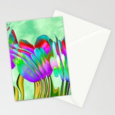 Tulips behind wavy glass Stationery Cards