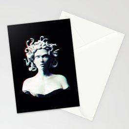 Medusa glitch Stationery Cards
