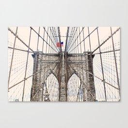 Brooklyn Brigde New York City ArtWork Paint Canvas Print