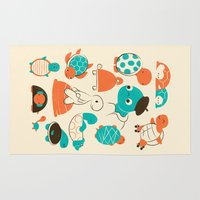turtles Area & Throw Rugs featuring Turtles by Jay Fleck