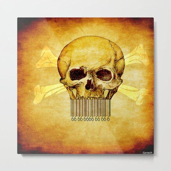 Skeleton bar codes Metal Print