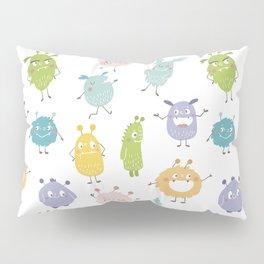 Color cute Monsters Pillow Sham