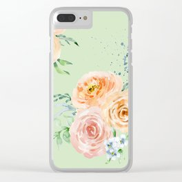 Pastel Floral Pattern 02 Clear iPhone Case