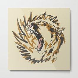Wildcat Roar - Mountain Lion - Orange Ochre Metal Print