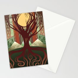 Yggdrasil - Midgard Stationery Cards