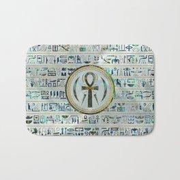 Abalone Shell Egyptian Ankh Cross symbol Bath Mat
