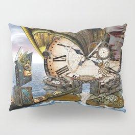 Steampunk Ocean Dragon Library Pillow Sham