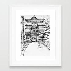 Spirited Away Bathhouse Framed Art Print