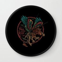 Fall and Rise Colorful Eagle Wall Clock