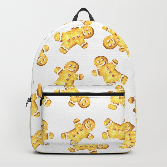 Cute Gingerbread Man Christmas Design Backpack
