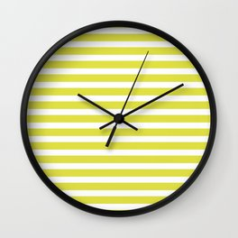 Pastel Yellow Stripes Wall Clock