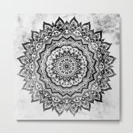 BLACK JEWEL MANDALA Metal Print